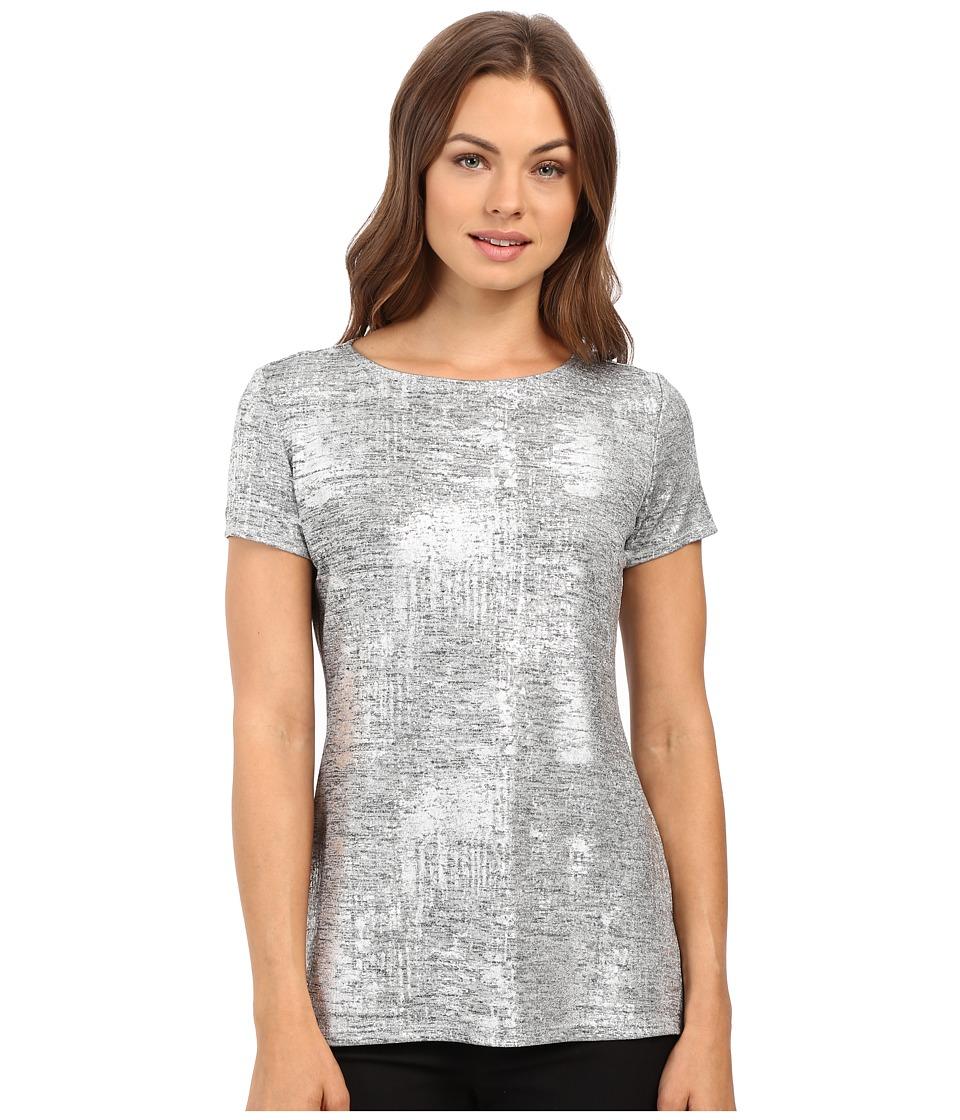 rsvp - Caomie Melange Knit Top (Silver) Women's Clothing
