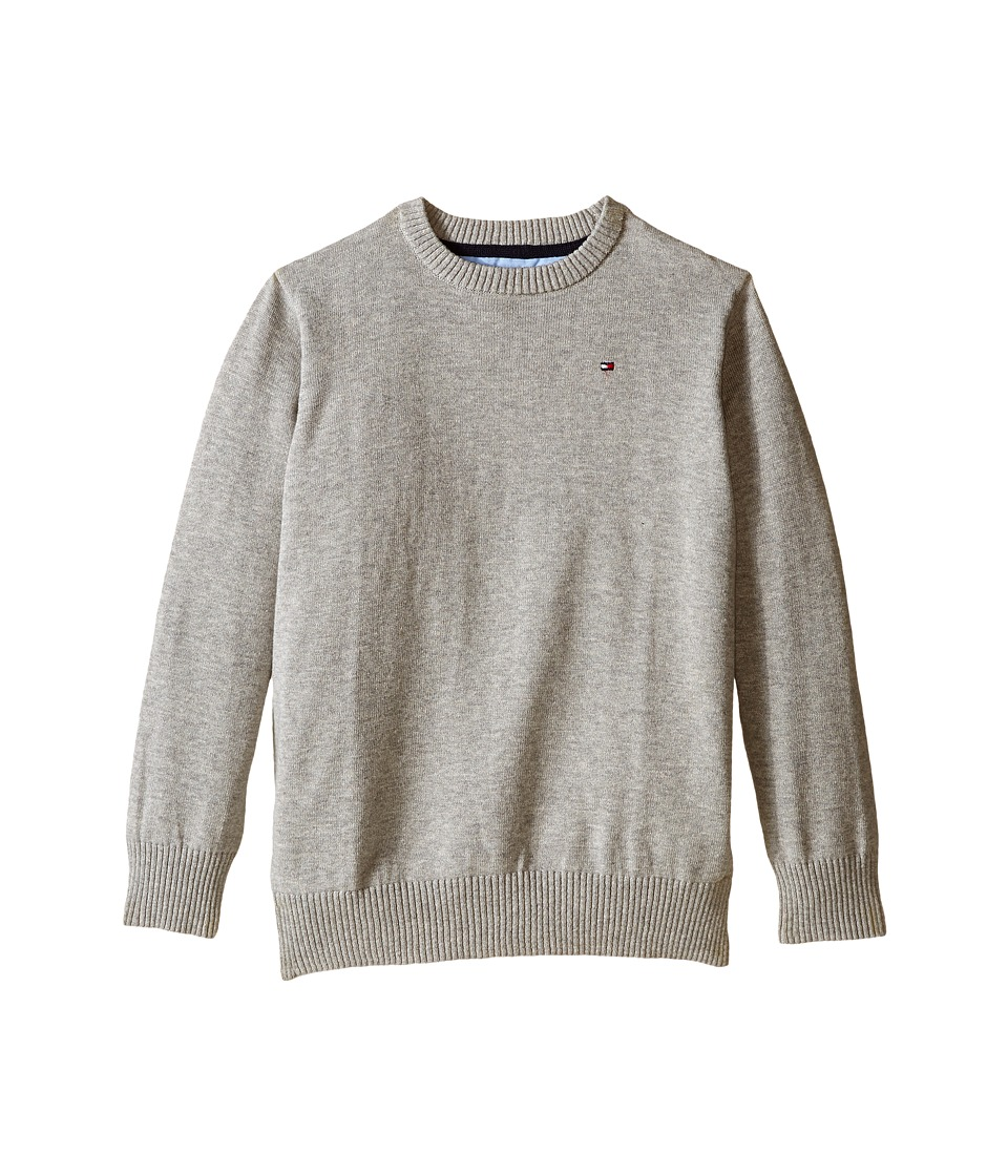 Tommy Hilfiger Kids - Long Sleeve Alan Crew Neck Sweater (Toddler/Little Kids) (TH Grey Heather) Boy's Sweater