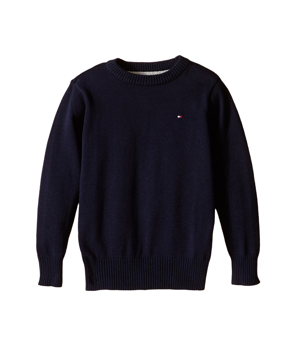Tommy Hilfiger Kids - Long Sleeve Alan Crew Neck Sweater (Toddler/Little Kids) (Swim Navy) Boy's Sweater