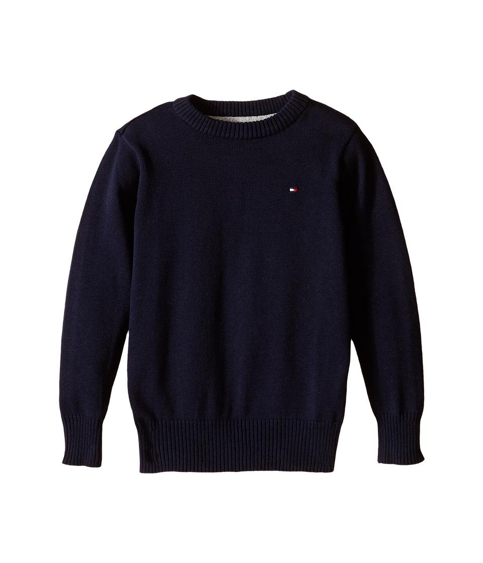 Tommy Hilfiger Kids - Long Sleeve Alan Crew Neck Sweater (Toddler/Little Kids) (Swim Navy) Boy's Sweater