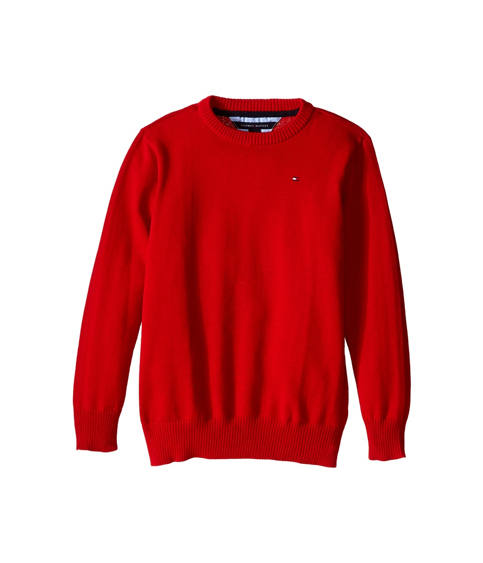 Tommy Hilfiger Kids - Long Sleeve Alan Crew Neck Sweater (Toddler/Little Kids) (Bulls Eye) Boy's Sweater