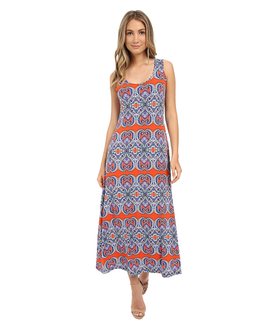 Christin Michaels - Keira Paisley Maxi Dress (Blue/Yellow) Women's Dress