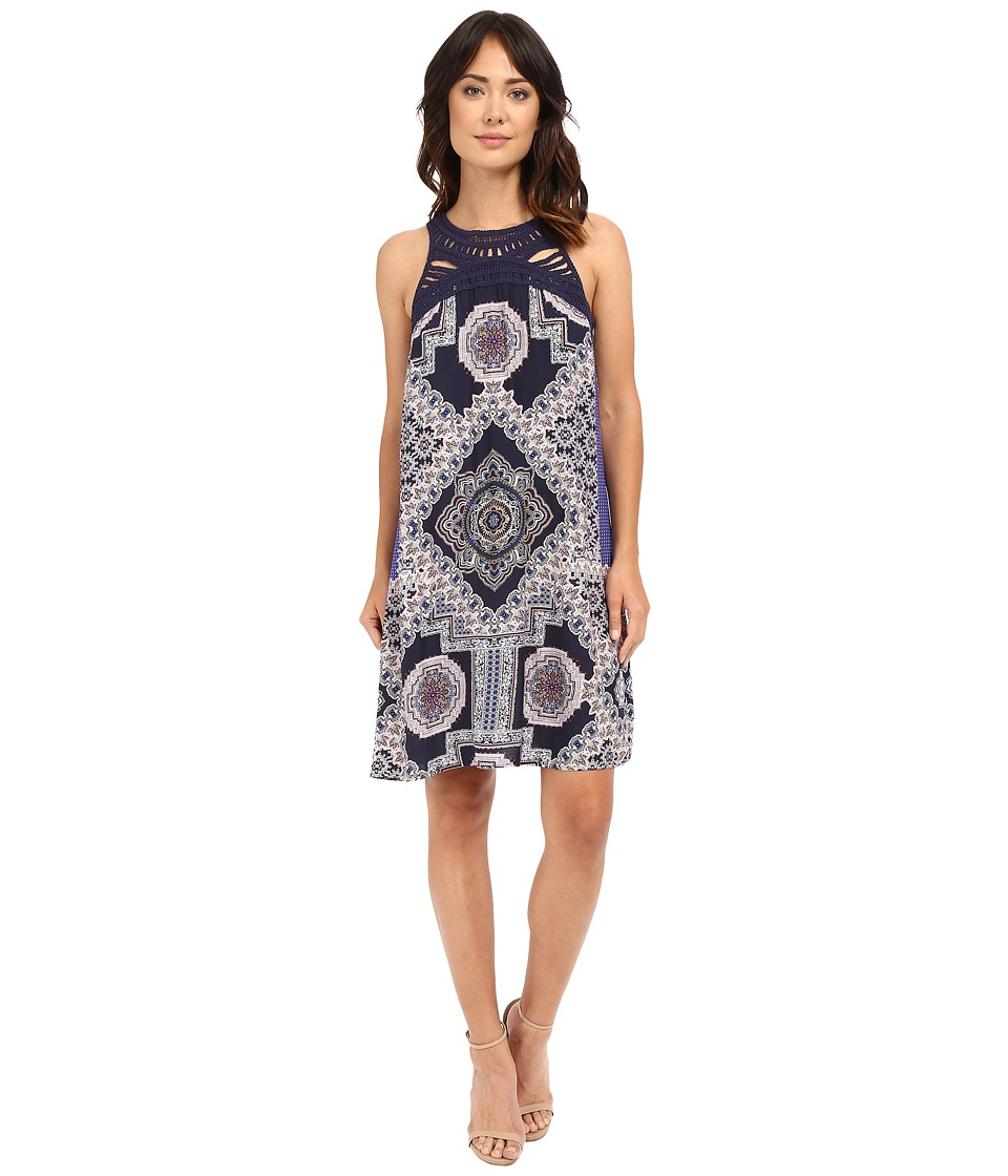 Christin Michaels - Meara Dress (Indigo/Olive/Red) Women's Dress