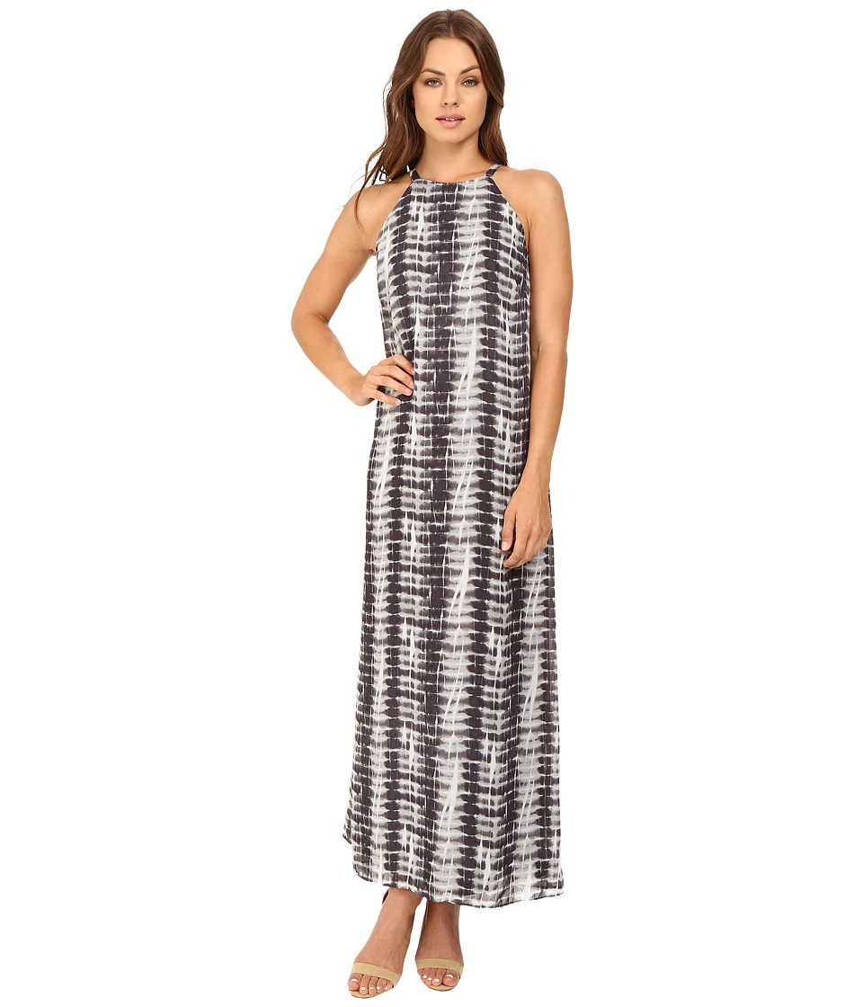 Christin Michaels - Neviah Maxi Goddess Dress (Black/Grey) Women's Dress