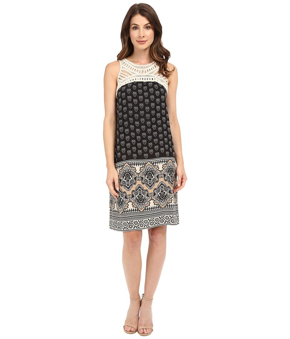 Christin Michaels - Naevah Dress (Taupe/Black) Women's Dress