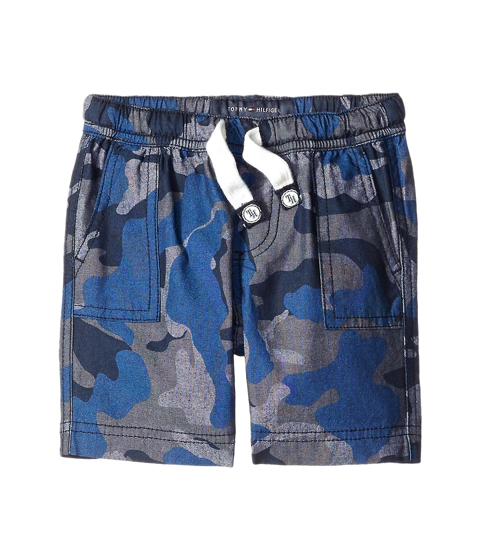 Tommy Hilfiger Kids - Chambray Camo Jogger Pull-On Shorts (Toddler/Little Kids) (Swim Navy) Boy's Shorts