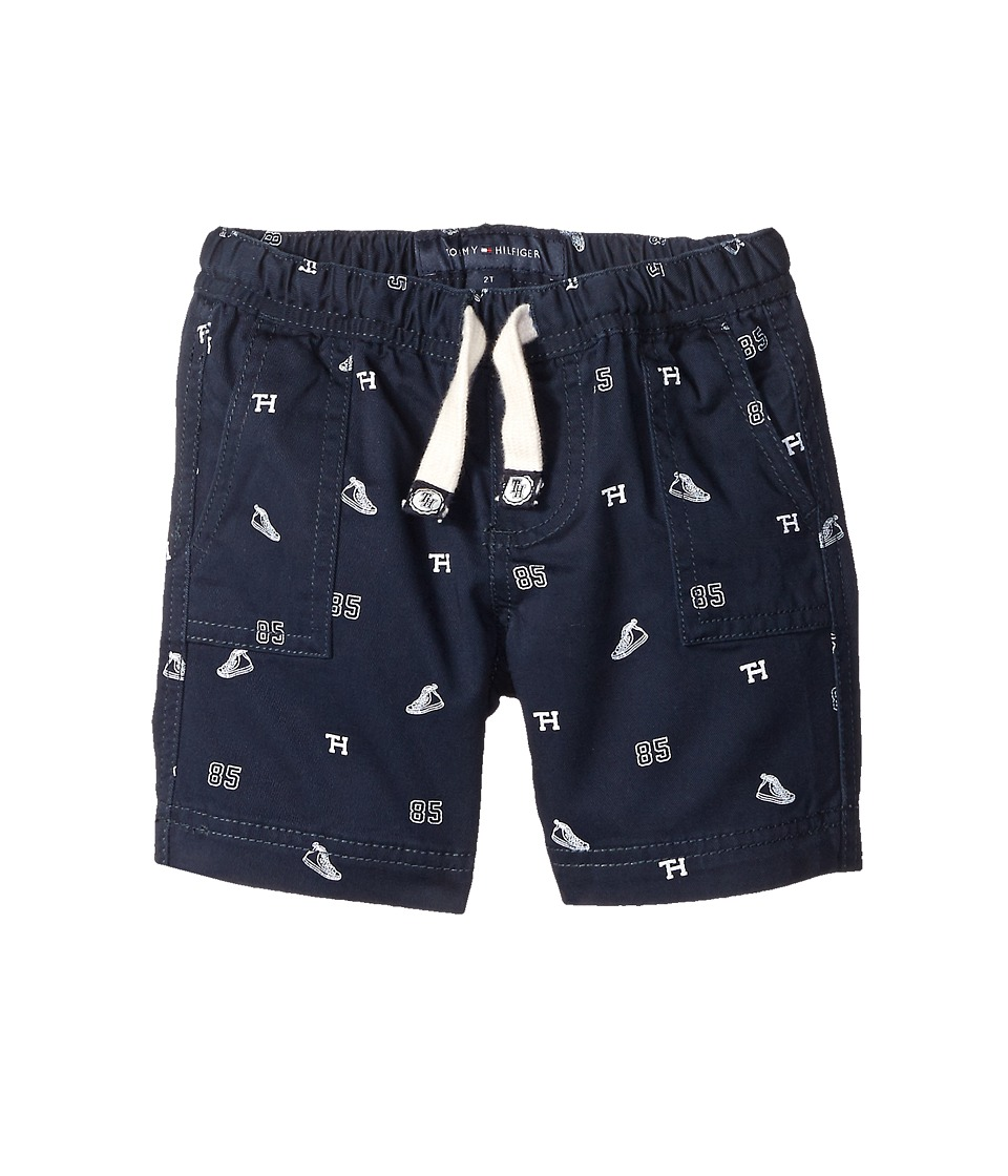 Tommy Hilfiger Kids - High Top Schiffli Jogger Shorts (Toddler/Little Kids) (Swim Navy) Boy's Shorts