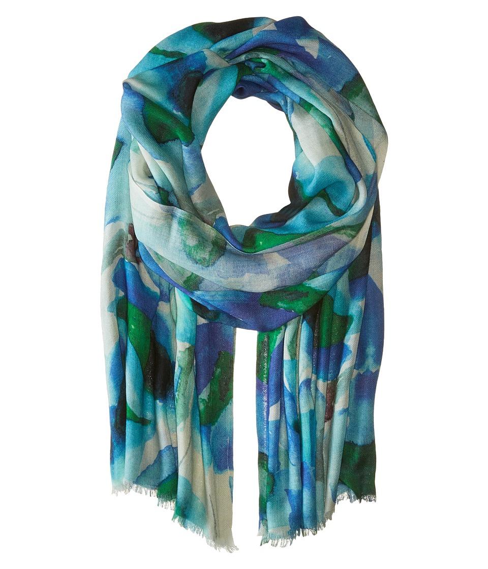 Bindya - Lilly Cashmere/Silk Wrap (Blue) Scarves