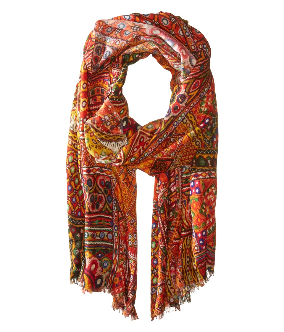 Bindya - Mirror Print Wool/Silk Wrap (Original) Scarves