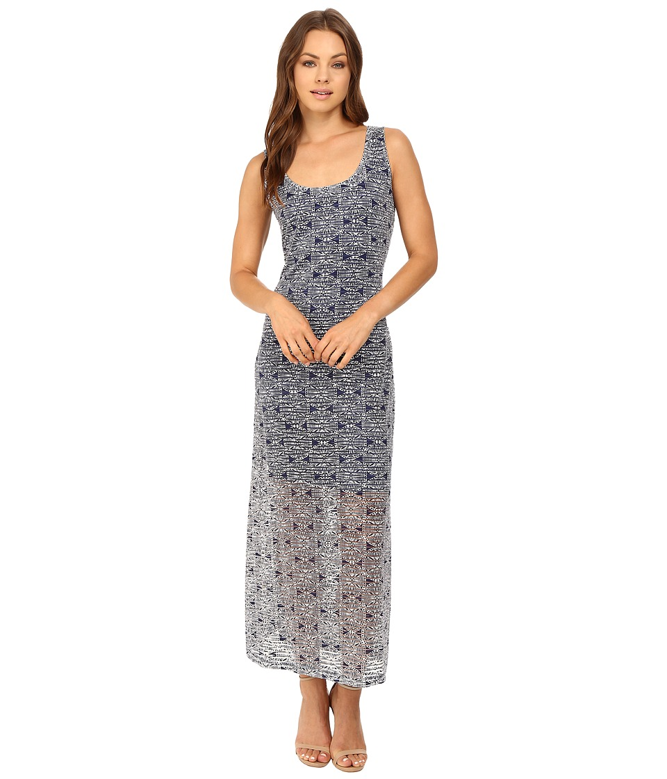 Christin Michaels - Sand Dollar Maxi (Indigo/White) Women's Dress