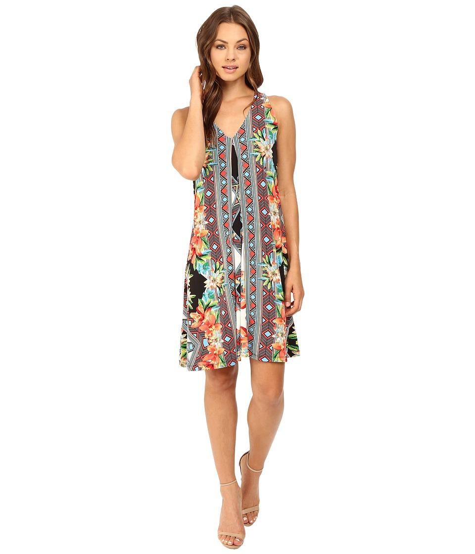 Christin Michaels - Kaylyn Dress (Black/Coral Multi) Women's Dress