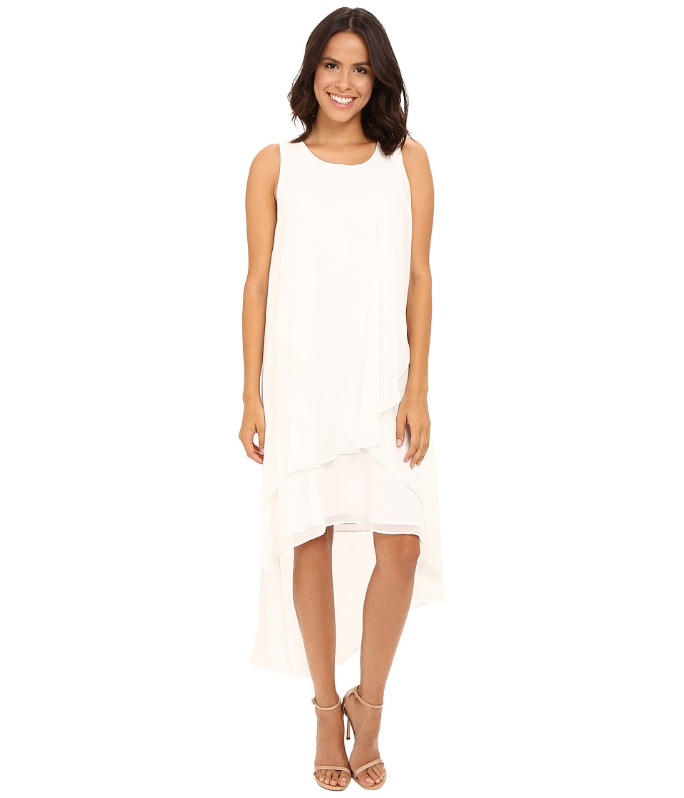 Christin Michaels - Fenella Layered High-Low Dress (Ivory) Women's Dress