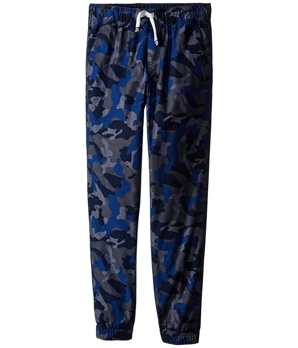 Tommy Hilfiger Kids - Chambray Camo Cargo Jogger (Toddler/Little Kids) (Swim Navy) Boy's Casual Pants