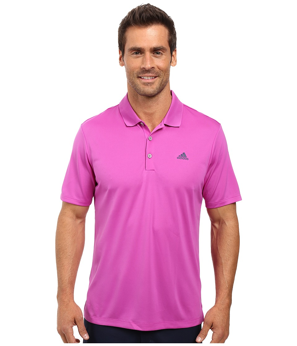 adidas Golf - Branded Performance Polo (Flash Pink) Men's Short Sleeve Pullover