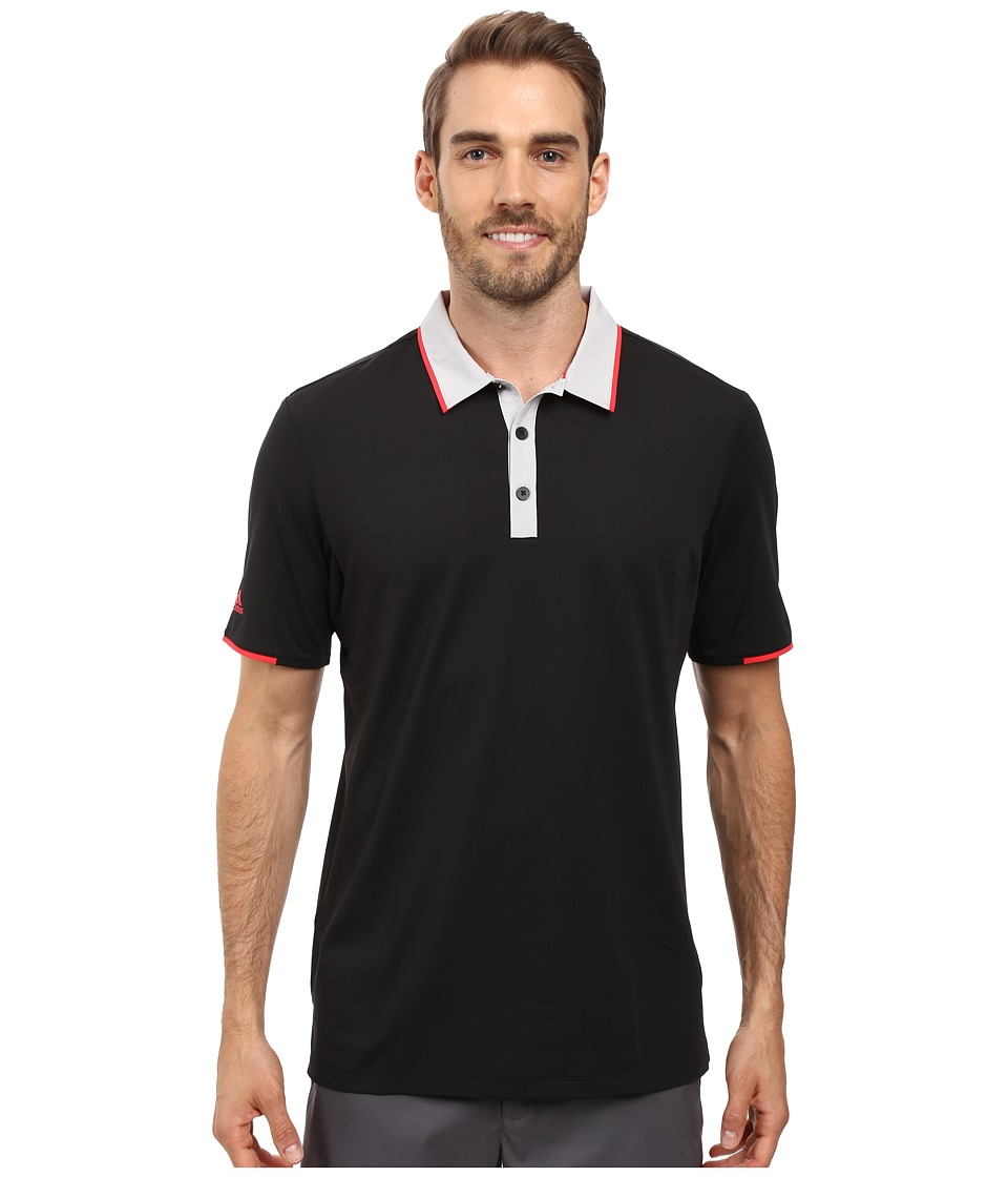 adidas Golf - CLIMACOOL Performance Polo (Black/Stone) Men's Clothing