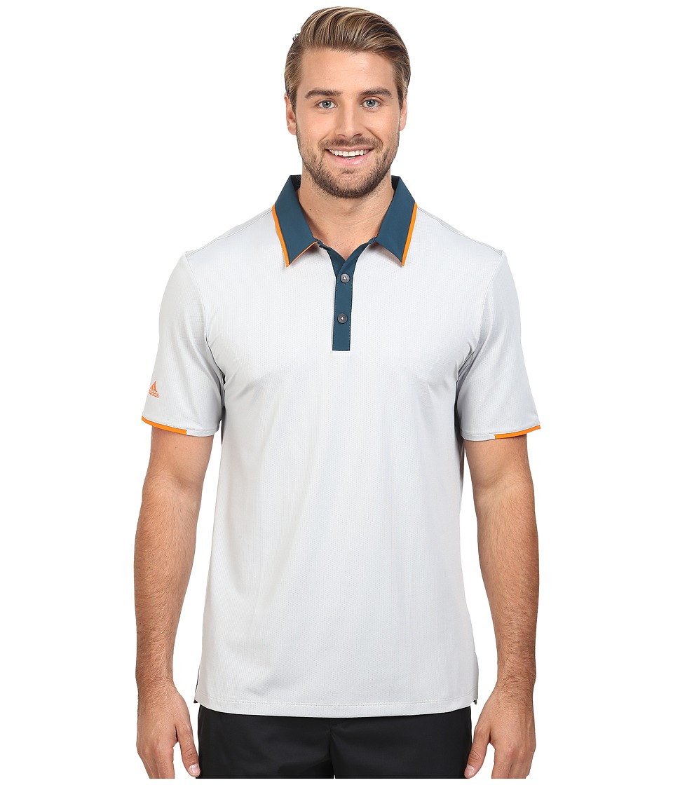 adidas Golf - CLIMACOOL Performance Polo (Stone/Utility Green) Men's Clothing