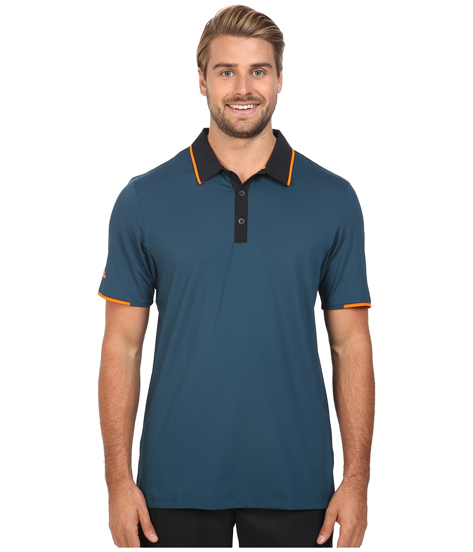 adidas Golf - CLIMACOOL Performance Polo (Utility Green/Black) Men's Clothing