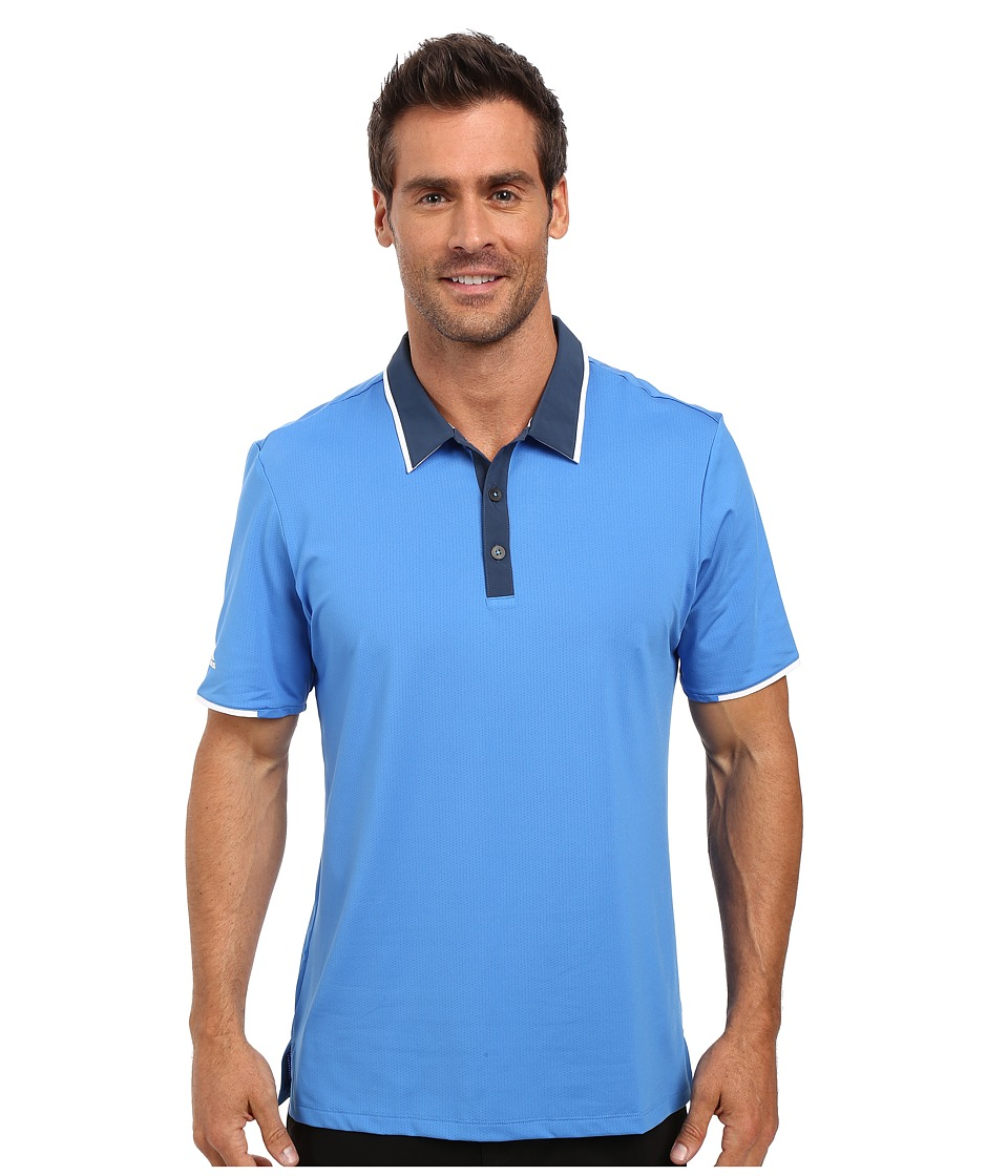 adidas Golf - CLIMACOOL Performance Polo (Ray Blue) Men's Clothing