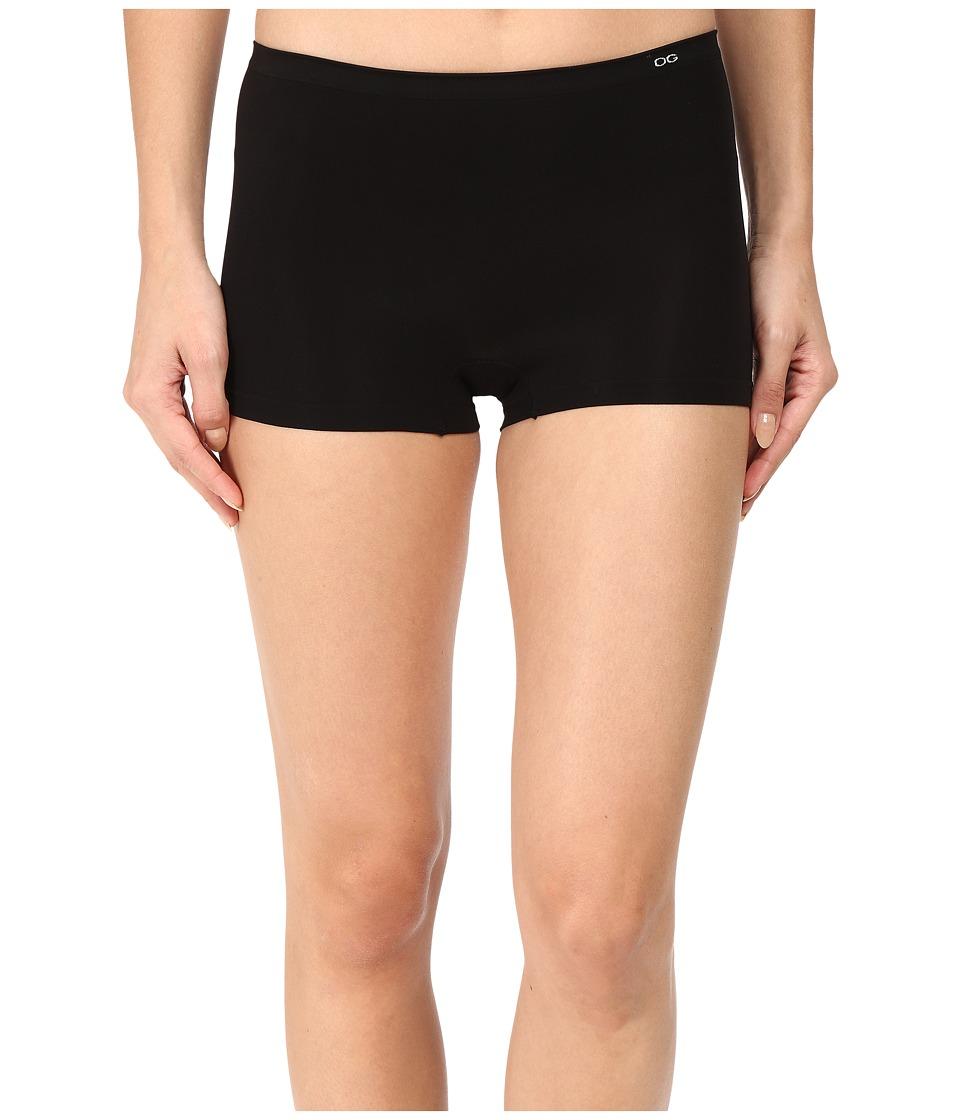 OnGossamer - Clean Lines Slip Shorts G0075 (Black) Women's Pajama