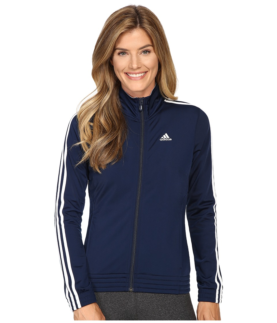 adidas - 3-Stripes Jacket (Collegiate Navy/White) Women's Coat