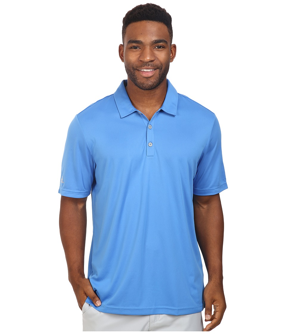adidas Golf - CLIMACHILL Solid Club Polo (Ray Blue) Men's Short Sleeve Pullover