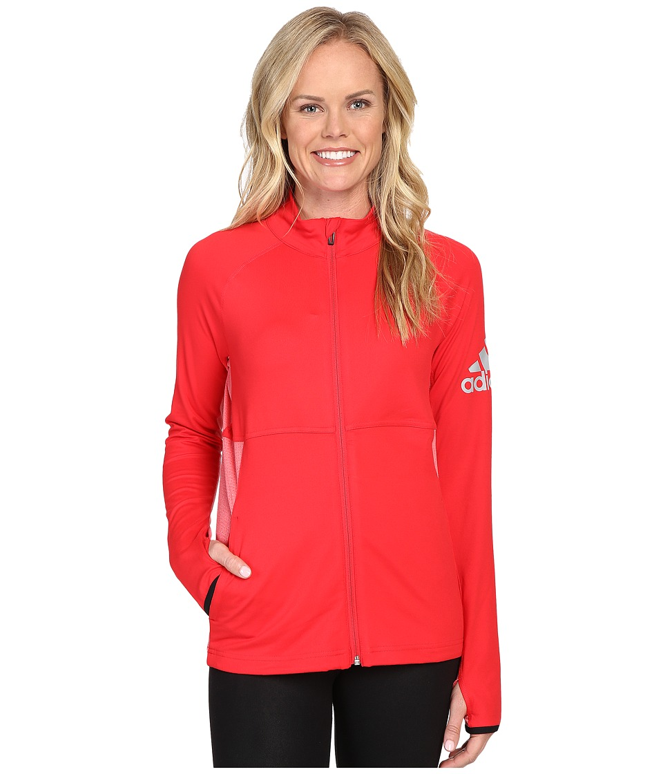 adidas - Performer Full Zip Jacket (Ray Red) Women's Coat