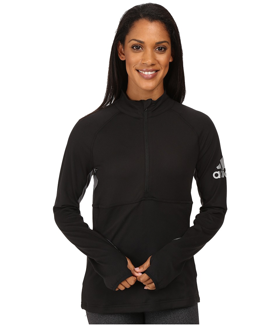 adidas - Performer 1/2 Zip Jacket (Black) Women's Coat