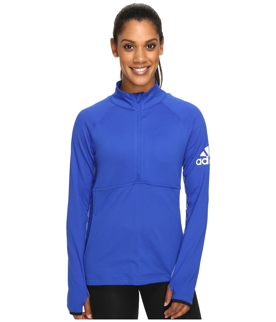 adidas - Performer 1/2 Zip Jacket (Bold Blue) Women's Coat