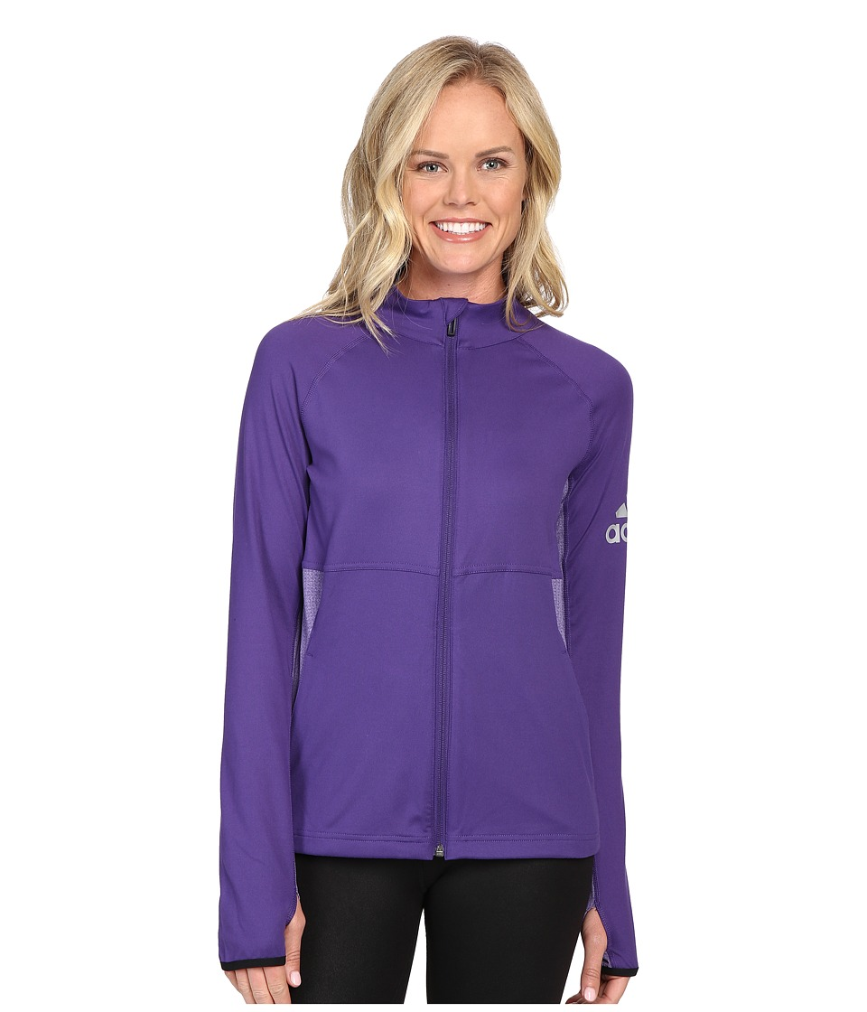 adidas - Performer Full Zip Jacket (Unity Purple) Women's Coat
