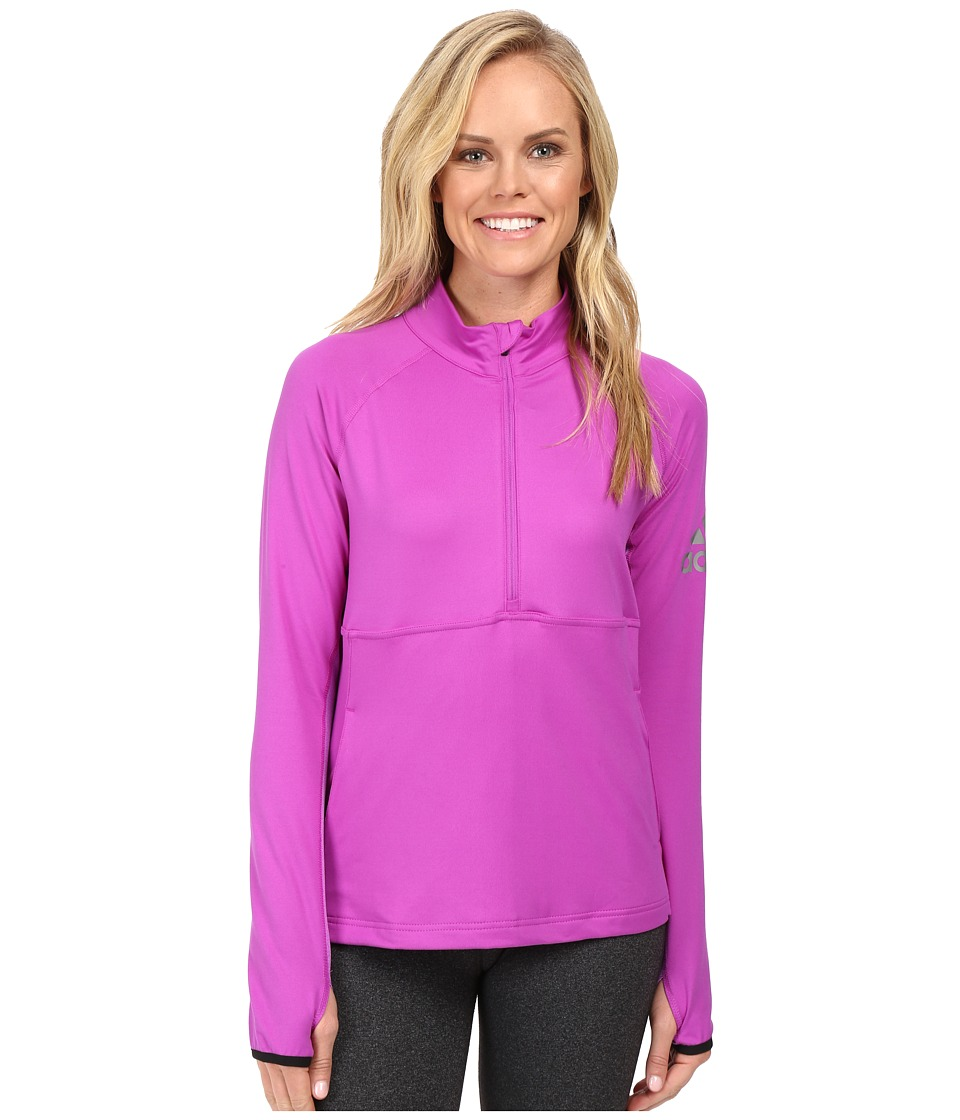 adidas - Performer 1/2 Zip Jacket (Shock Purple) Women's Coat