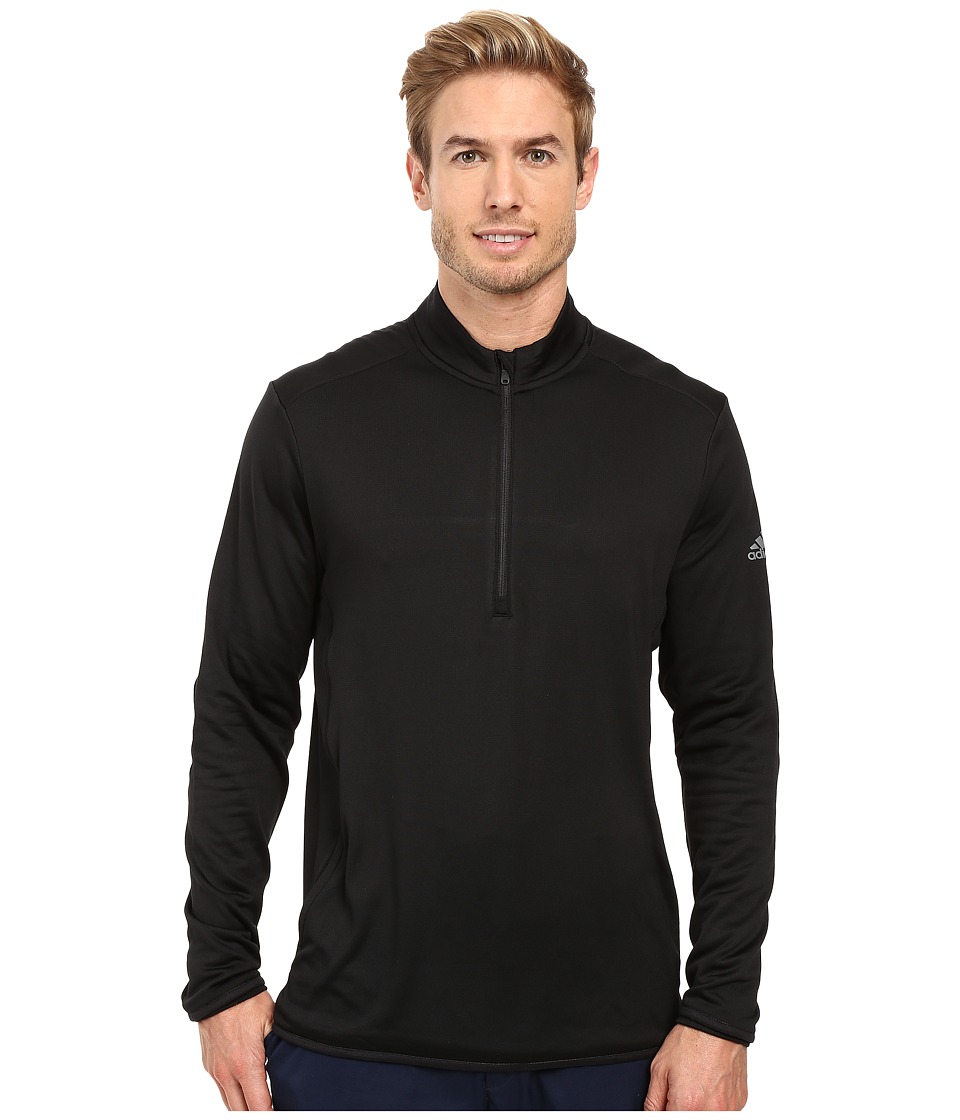 adidas Golf - CLIMAHEAT Fleece 1/4 Zip Layering (Black/Vista Grey) Men's Clothing