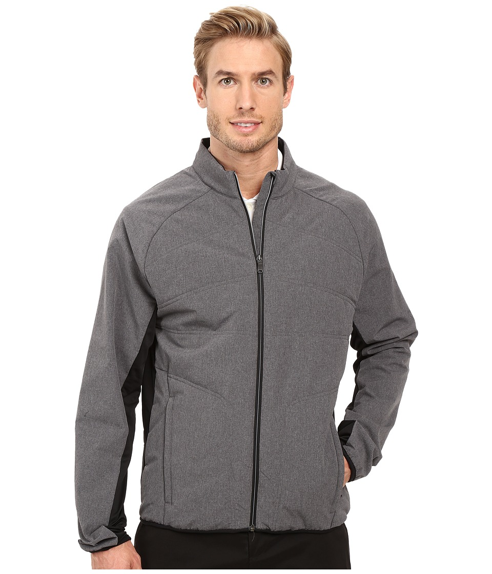 adidas Golf - CLIMAHEAT Primaloft Full Zip Jacket (Dark Grey Heather) Men's Coat