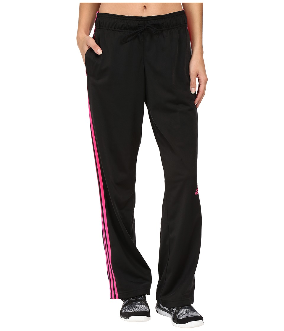 adidas - 3-Stripes Pant (Black/Shock Pink) Women's Workout