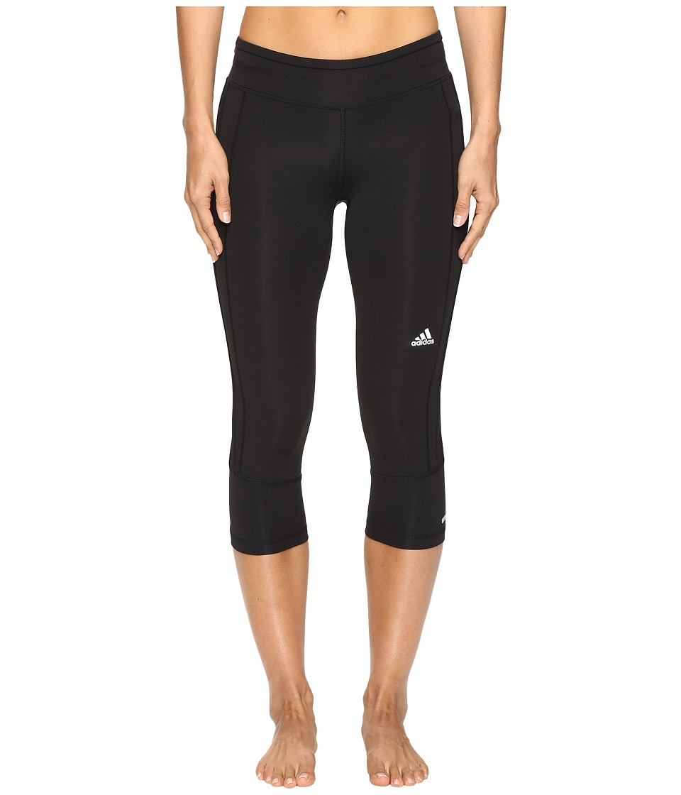 adidas - Response 3/4 Tights (Black/Black) Women's Workout