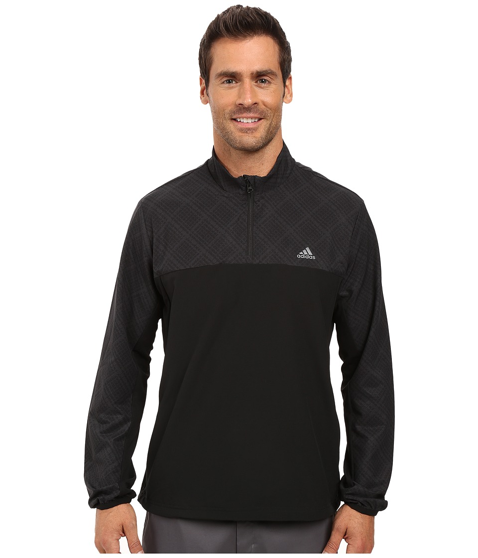 adidas Golf - Performance Stretch 1/2 Wind Jacket (Carbon/Black) Men's Coat