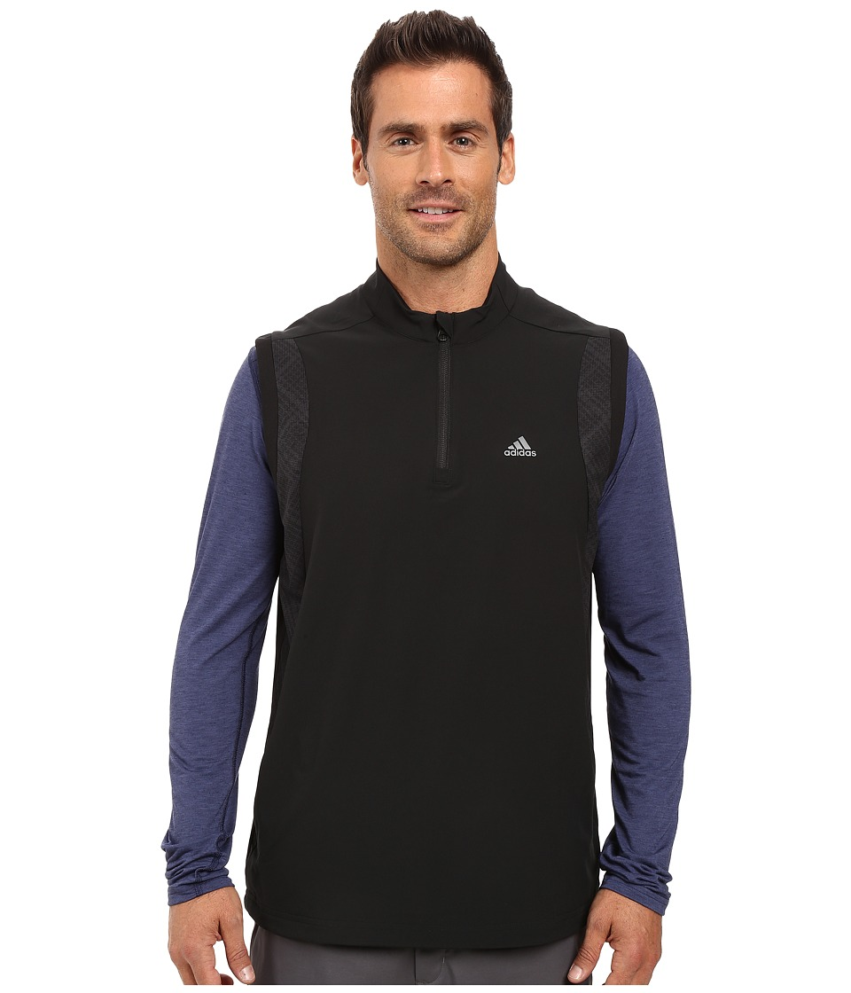 adidas Golf - Performance Stretch 1/2 Wind Vest (Black) Men's Vest