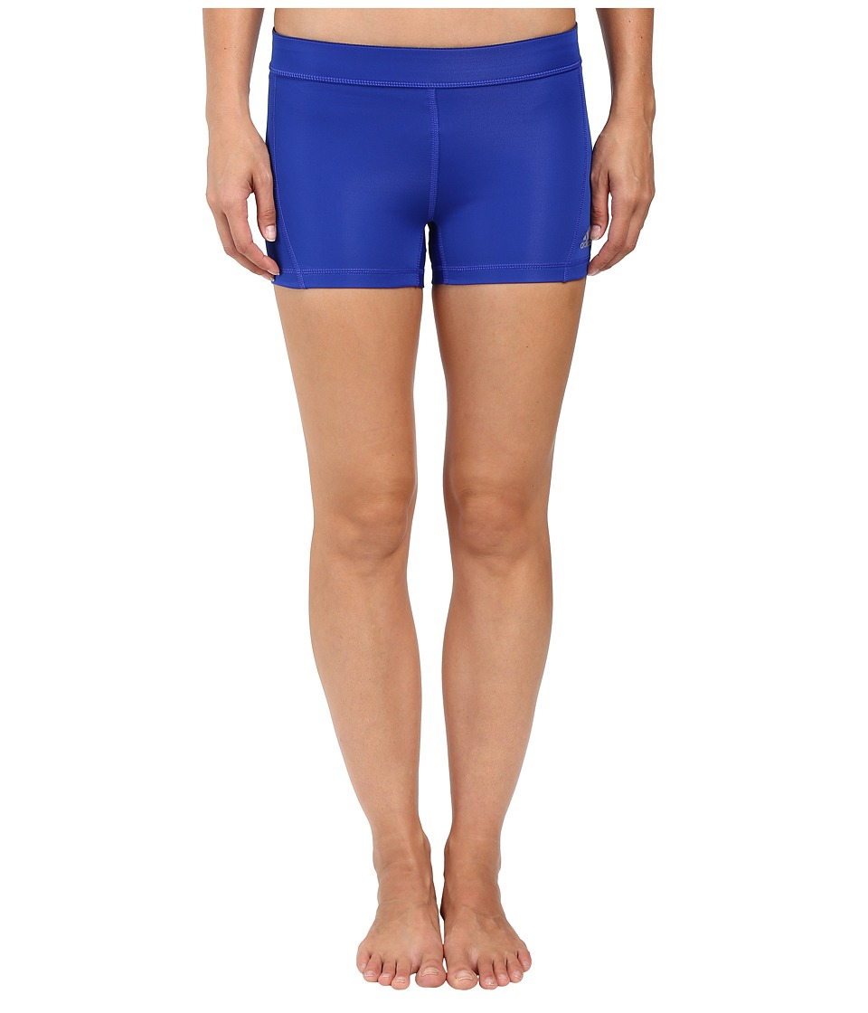adidas Techfit 3 Short Tights (Bold Blue/Matte Silver) Women