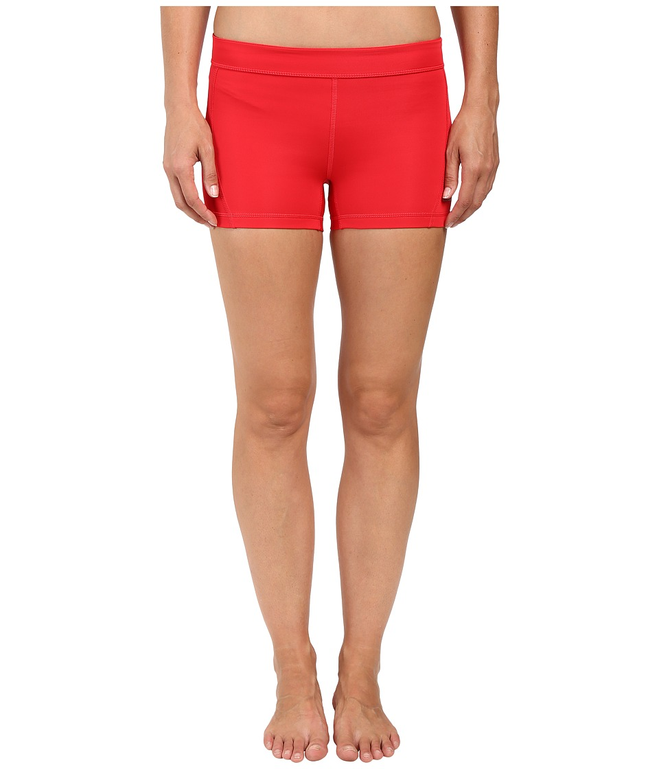 adidas - Techfit 3 Short Tights (Ray Red/Matte Silver) Women's Casual Pants