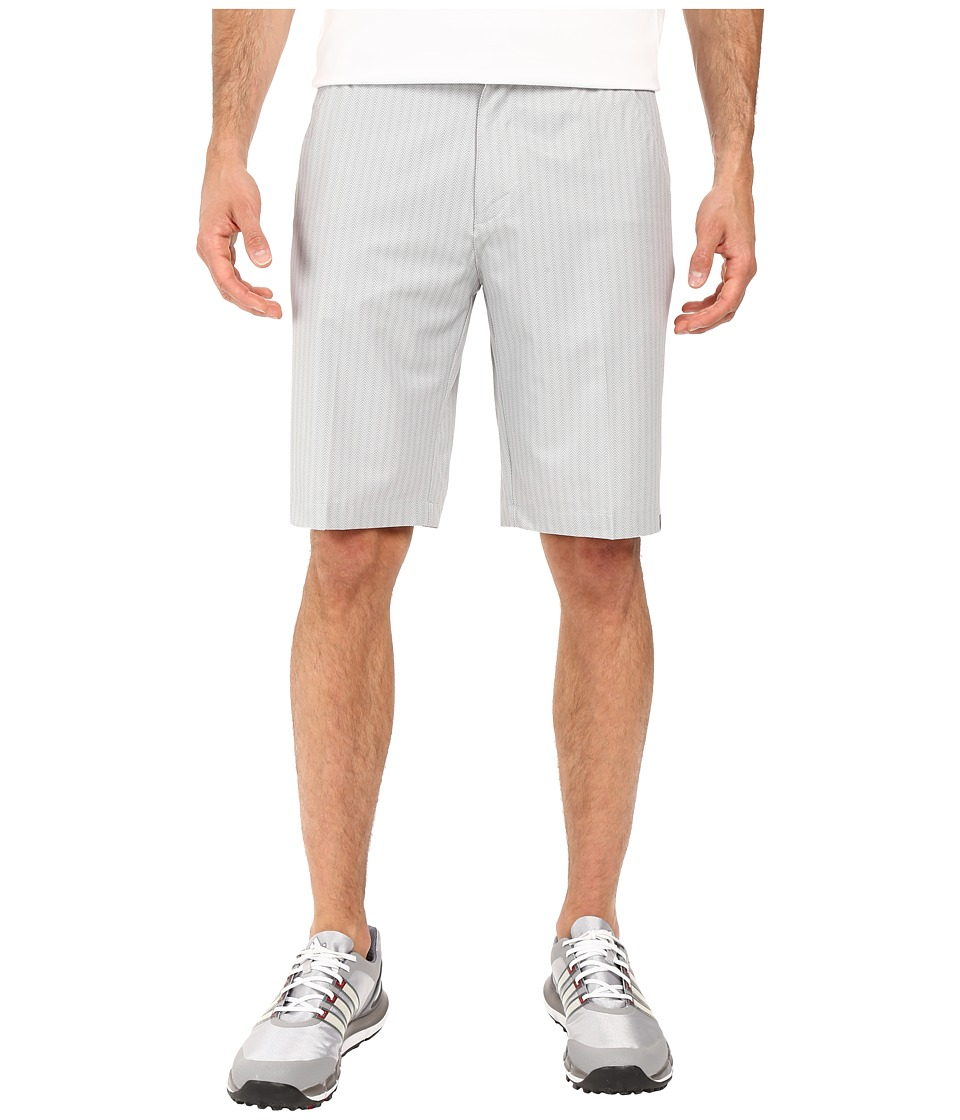 adidas Golf - Ultimate Dot Herringbone Shorts (Stone/Grey) Men's Shorts