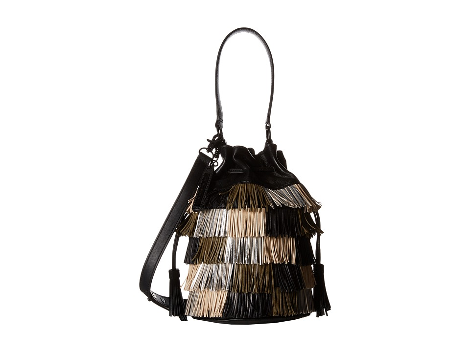 Loeffler Randall - Industry Bag with Fringe (Multi Fringe/Black Nappa) Tote Handbags
