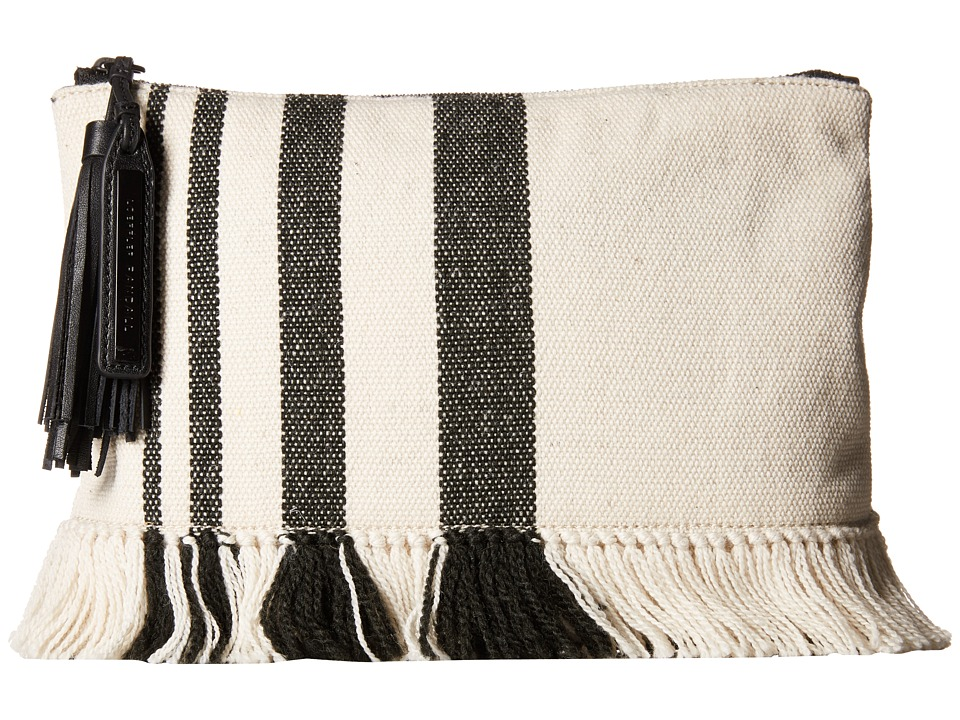 Loeffler Randall - Tassel Pouch (Black Natural Canvas) Clutch Handbags