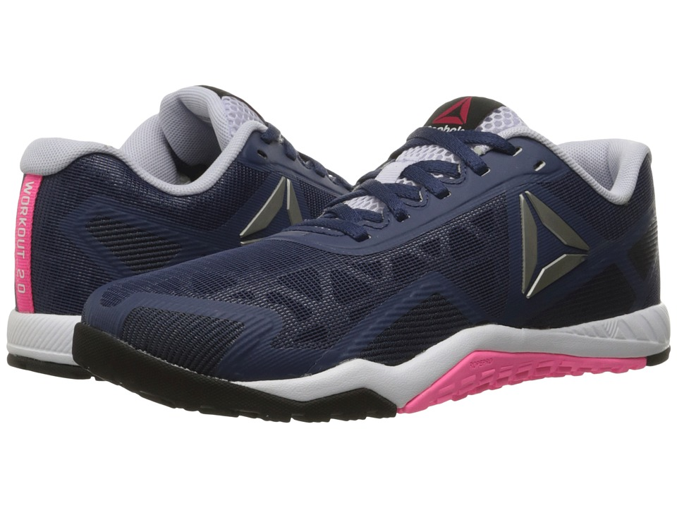 Reebok - ROS Workout TR 2.0 (Blue Ink/Collegiate Navy/Lucid Lilac/Poison Pink/Black/Pewter) Women's Cross Training Shoes