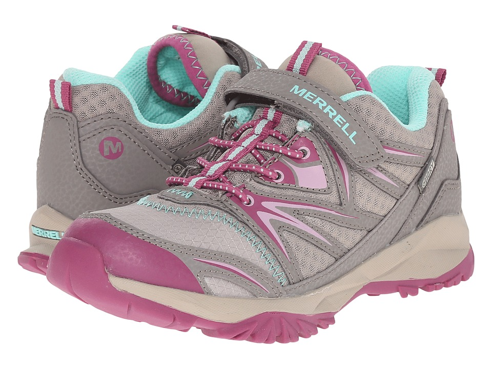 Merrell Kids - Capra Bolt Low A/C Waterproof (Toddler/Little Kid) (Taupe/Berry Suede/Mesh) Girls Shoes