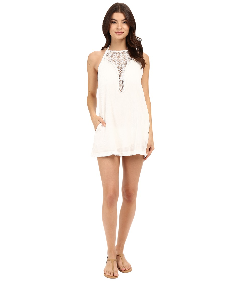 L*Space - Kokomo Halter Dress Cover-Up (Ivory) Women's Swimwear