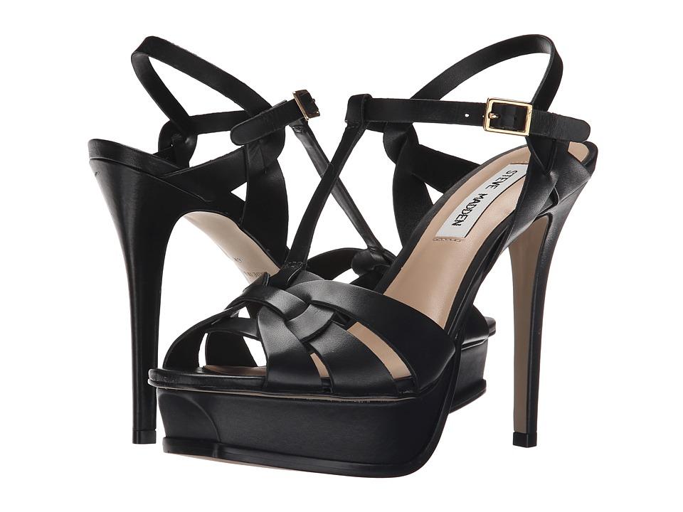 Steve Madden - Kismit (Black Leather) High Heels