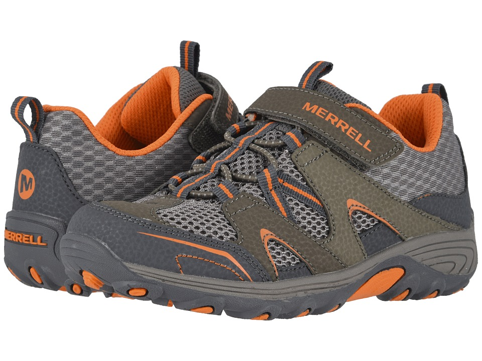 Merrell Kids - Trail Chaser (Little Kid) (Navy/Taupe Suede/Mesh) Boys Shoes