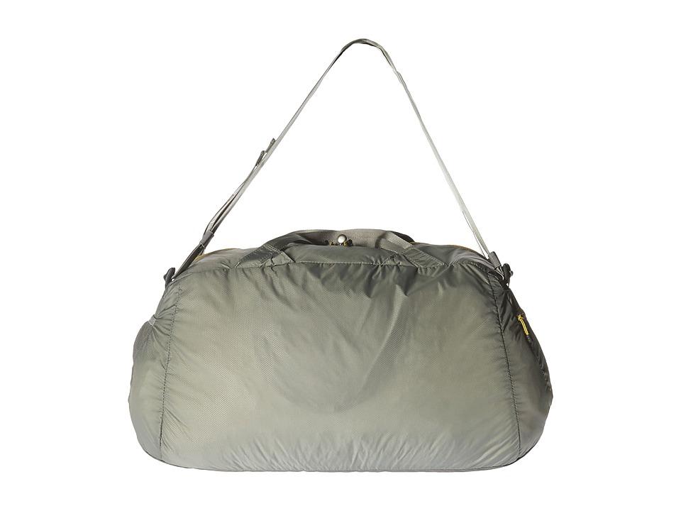 The North Face - Packable Flyweight Duffel (Moon Mist Grey/Antique Moss Green) Duffel Bags