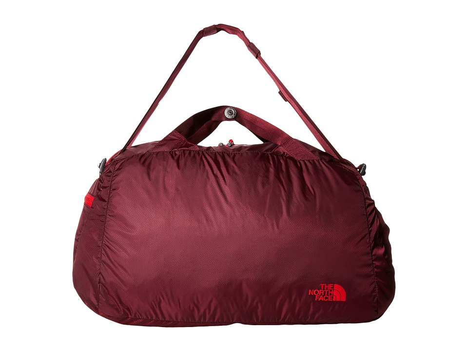 The North Face - Packable Flyweight Duffel (Deep Garnet Red/TNF Red) Duffel Bags