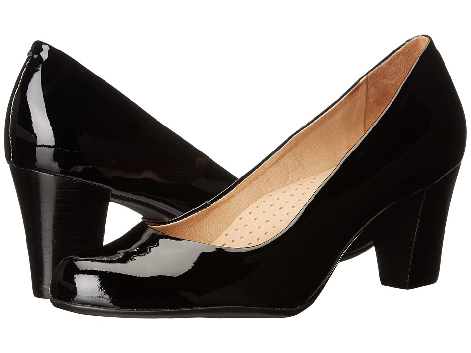Hush Puppies - Alegria (Black Patent Leather) Women's 1-2 inch heel Shoes