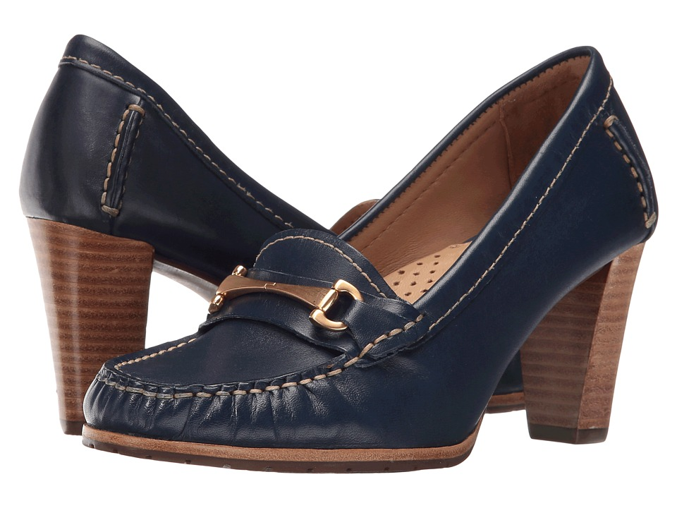 Hush Puppies - Castana (Navy Leather) Women's 1-2 inch heel Shoes